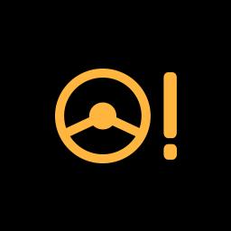 yellow-alarm-power-steering-warning