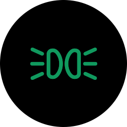 green-light-alarm-dipped-beam-headlight